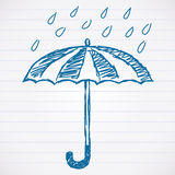 Sketch of umbrella Stock Images
