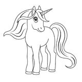 Sketch of a unicorn for coloring. Sketch of a unicorn for coloring, on a white background vector illustration