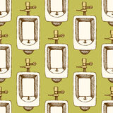 Sketch urinal in vintage style Stock Images