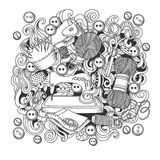 Sketch vector hand drawn of object Hand Made cartoon doodle Royalty Free Stock Images