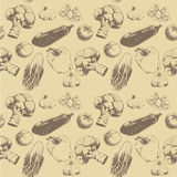 Sketch vegetables pattern Royalty Free Stock Photography