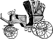 Sketch of vintage carriage Royalty Free Stock Images