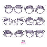 Sketch vintage sunglasses Royalty Free Stock Photography