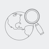 sketch web worldwide 免版税库存照片