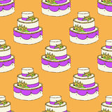 Sketch wedding cake Royalty Free Stock Photos