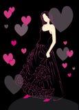 Sketch wedding dress stock photos