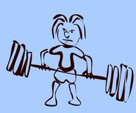 Sketch of weightlifter Royalty Free Stock Image
