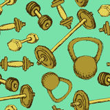 Sketch weights  in vintage style Stock Photo