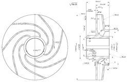 Sketch of wheel with curved lines Royalty Free Stock Photos