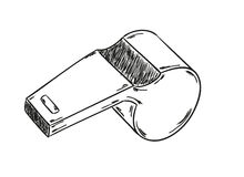 Sketch of the whistle Stock Photo
