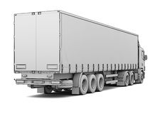 Sketch white truck Royalty Free Stock Image