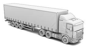 Sketch white truck Stock Photo