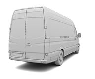 Sketch white van Royalty Free Stock Images