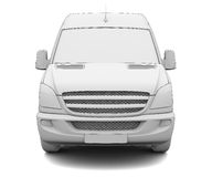 Sketch white van Stock Photo