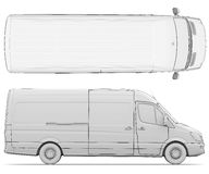 Sketch white van Royalty Free Stock Photos