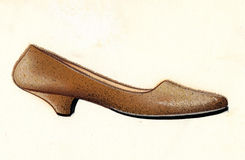 Sketch of a woman shoe Stock Images