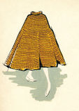 Sketch of a woman skirt Royalty Free Stock Images