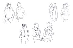 Sketch: women Royalty Free Stock Photography