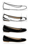 Sketch of women shoe Royalty Free Stock Photography