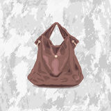 Sketch womens leather bag. Colored sketch of a womens leather small hand bags Stock Image
