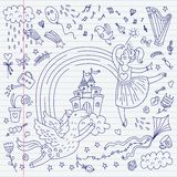 Sketch in wonderland style. Vector  romantic background. This is file of EPS8 format Royalty Free Stock Photography
