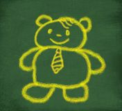 Sketch of yellow teddy bear Royalty Free Stock Photo