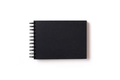 sketchbook με το μαύρο έγγραφο Στοκ φωτογραφίες με δικαίωμα ελεύθερης χρήσης