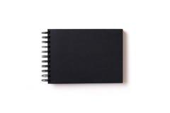 sketchbook с черной бумагой Стоковые Фотографии RF