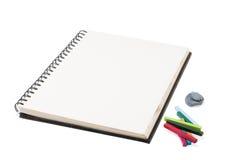 Sketchbook stockfoto