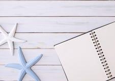 Sketchbook on a desktop Stock Image