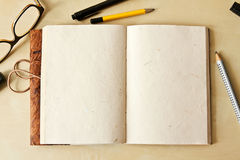 Sketchbook note pad Royalty Free Stock Photos