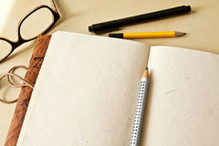 Sketchbook note pad Stock Photography