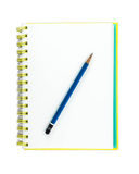 Sketchbook with Pencil Royalty Free Stock Photos