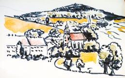 Sketchbook Sajonia Imagenes de archivo