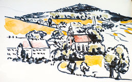 Sketchbook Saxony Ilustracja Wektor