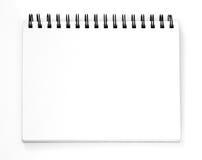 Sketchbook vacío Imágenes de archivo libres de regalías