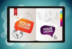 sketchbook wektor Fotografia Stock