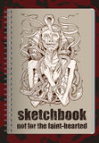 Sketchbookdekking Royalty-vrije Stock Foto