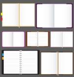 Πρότυπο υποβάθρου σημειωματάριων και Sketchbooks Στοκ φωτογραφία με δικαίωμα ελεύθερης χρήσης