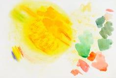 Sketchbookseite, Farbe und Beschaffenheitserforschung Lizenzfreies Stockbild
