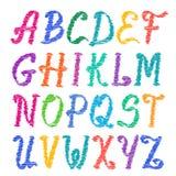 Sketched alphabet set. Capital letters Stock Image