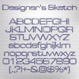 Sketched alphabet Stock Image