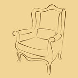 Sketched armchair. Stock Image
