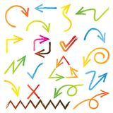 Sketched arrows Royalty Free Stock Photo