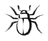 Sketched beetle Stock Photo