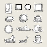 Sketched Buttons And Thumblers Stock Images