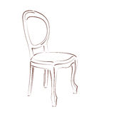 Sketched chair. Stock Photography
