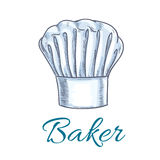 Sketched chef hat or baker cap for menu design Royalty Free Stock Image