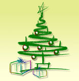 Sketched christmas tree Stock Images