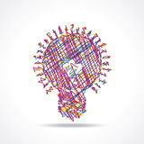Sketched colorful bulb design Stock Image